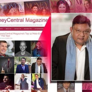 Guruji Shrii Arnav makes it to top 12 male entrepreneurs list of Money Central magazine